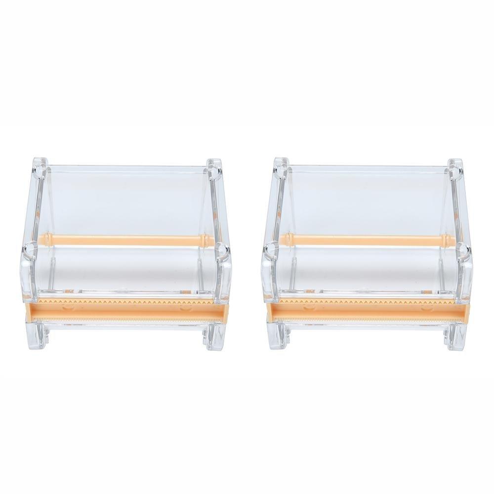Desktop tape dispenser, Aolvo multi rotolo di nastro washi tape dispenser trasparente mini organizer 10.3x9.2x7.1cm/4x2.8x3.6inch Transparent 1pcs