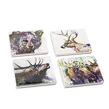 Big Sky Carvers Wildlife Coaster Set, Multicolor
