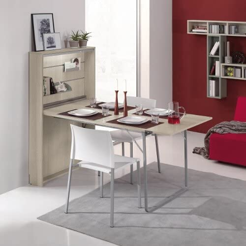 Consola salvaespacio convertible en mesa de comedor, escritorio ...