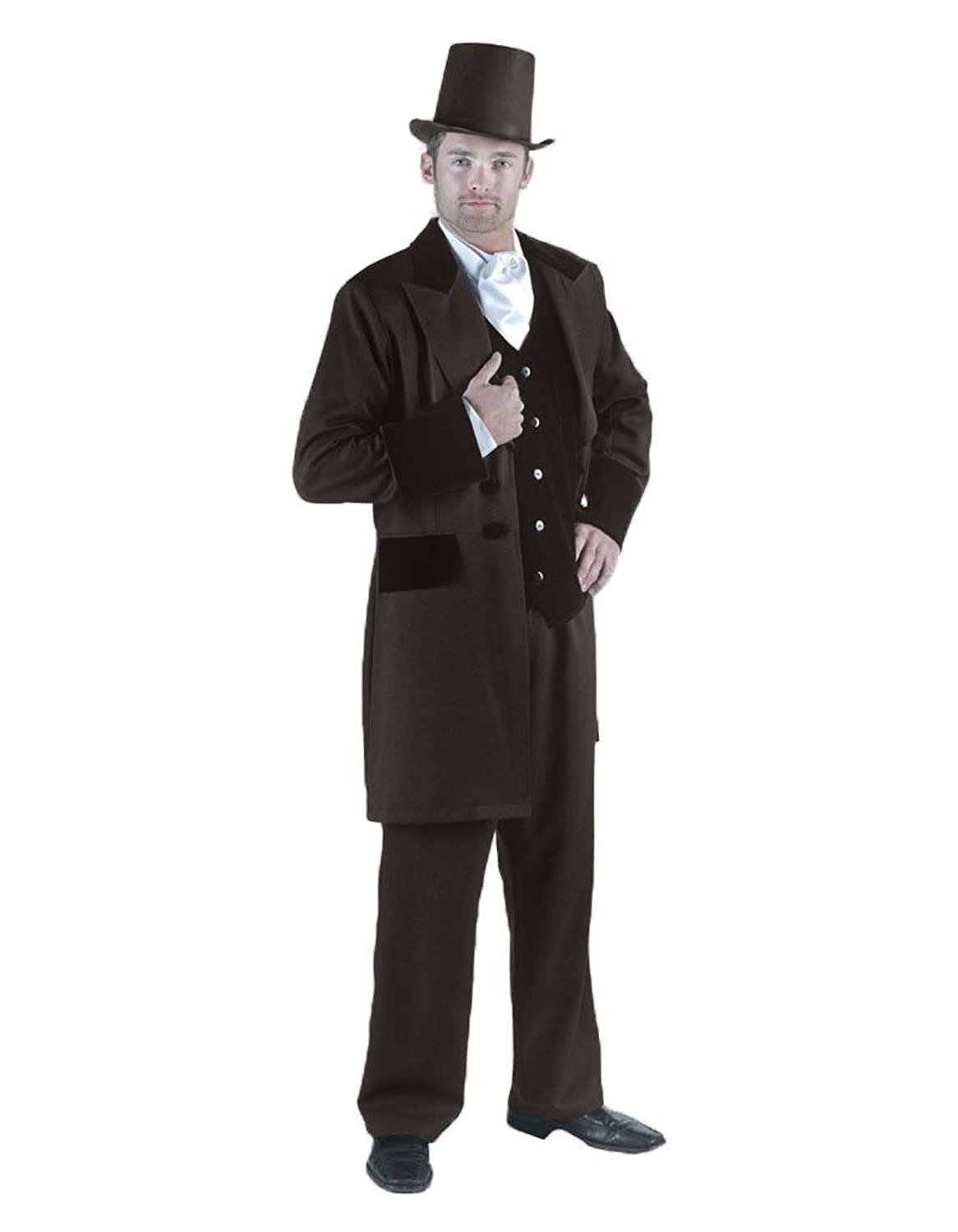 Victorian Men's Costumes: Mad Hatter, Rhet Butler, Willy Wonka Mens Rhett Butler Suit Theater Costume $249.99 AT vintagedancer.com