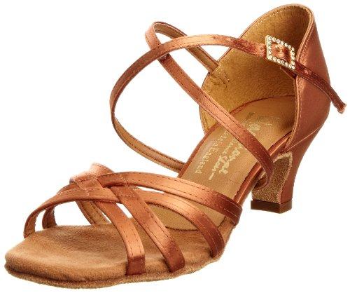 International Dance Shoes Junior's Cindy Heels Tan Satin