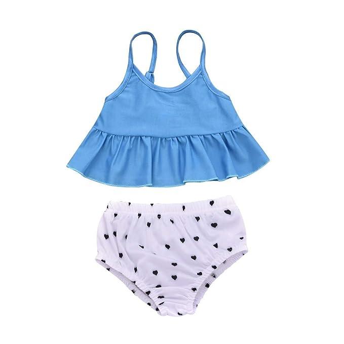 514ee66aa2a4 Mitlfuny Nadando Ropa Niñas Verano Traje de Baño para Bebés Dividir ...
