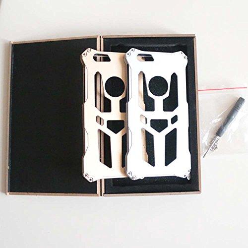 Para iphone 6Plus casos, yijee a prueba de golpes Metal teléfono móvil de aluminio THOR IRONMAN diseño de Armor teléfono celular Funda bolsa 5.5pulgadas con la caja, negro, 19*12*3cm negro