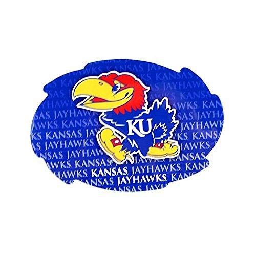Bama NCAA Officially Licensed Kansas Jayhawks Repeating Design Swirl Magnet (Ncaa Locker Room Jayhawks Kansas)