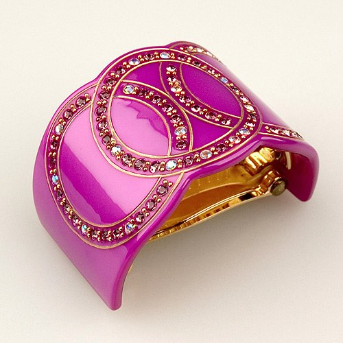 (Bel Esprit Purple - Cubitas Bellini Collection (Hand-set Swarovski Crystals, Hair Clip))