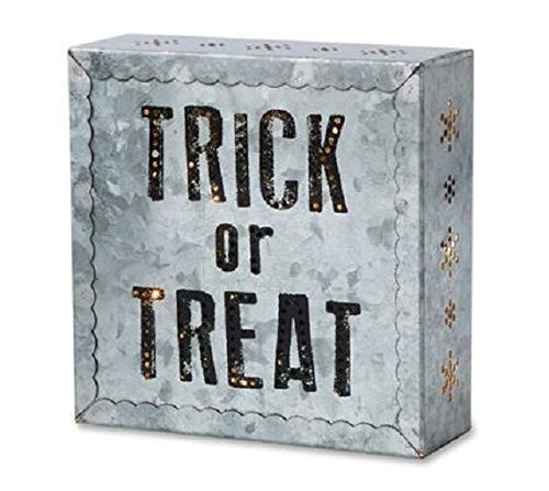 Demdaco Trick or Treat Metal Wall Art - Halloween Metal wall art - Holiday