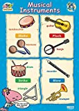 Musical Instruments Educational Poster | Gloss C2 Early Years & Primary Poster Measuring 485 mm × 648 mm | Children's Music Wall Chart for the Home | Bright Wall Display Poster to Make Learning Fun