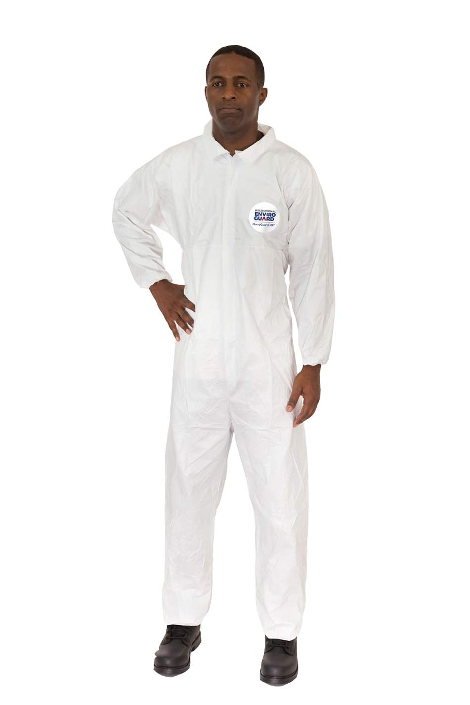Microguard MP Microporous (White) | Particulate & Splash Protection/Disposable Hazmat Coverall with Elastic Wrist & Ankle for Paint and Particulates (XL, Case of 25) by Microguard MP (Image #5)