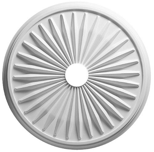 Focal Point 24 Inch Diameter Ceiling Medallion 80624 Sunburst Primed White Polyurethane