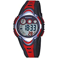 Children's Waterproof Swimming Sports Watch Kids Led Digital Wristwatch with Rubber Silicone Strap for Boys Girls Red