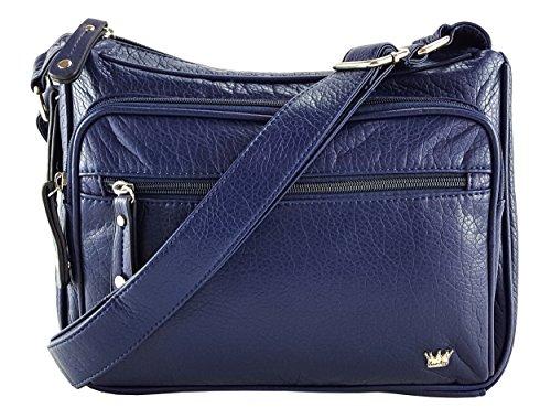 Purse King Magnum Concealed Carry Handbag (Navy Blue)