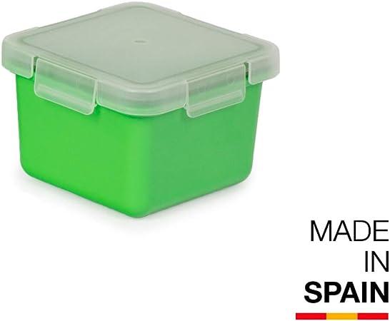 Valira Porta alimentos - Contenedor hermético de 0,4 L hecho en España, color verde: Amazon.es: Hogar