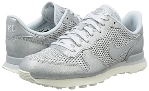 Premium W De Mujer Para sail Nike Grau metallisches Internationalist Zapatillas Running Weiß Gris Platinum ZESccqd1