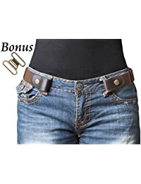 "No Buckle Stretch Belt For Women/Men Elastic Waist Belt Up to 48"" for Jeans Pants"