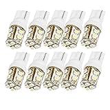 uxcell® 10 x T10 W5W White 12-SMD 1210 LED Light Bulb Car Dashboard Lamp DC 12V internal