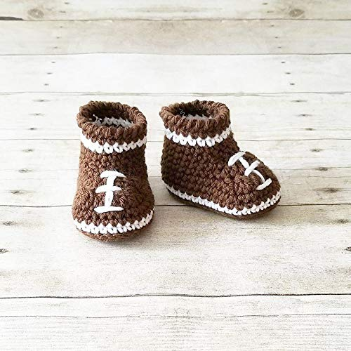 f31f561a16f93 Amazon.com: Crochet Baby Football Shoes Boots Booties NFL Infant ...