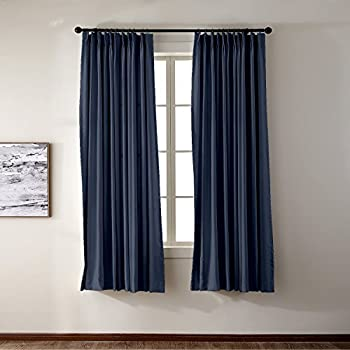 Amazon Com Pinch Pleat Solid Thermal Insulated Blackout