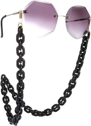 EUEAVAN Fashion Women's Eyeglass Chains, Acrylic Marble Texture Sunglasses,  Eyeglass Strap Holder (Black) at Amazon Women's Clothing store