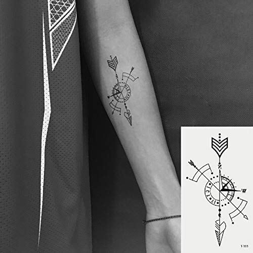 392737fd2a808 Amazon.com : Oottati Small Cute Temporary Tattoos Stickers Arrow (2 Sheets)  : Beauty