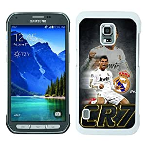 Samsung Galaxy S5 Active Case ,Hot Sale And Popular Designed Samsung Galaxy S5 Active Case With CR7 White Hight Quality Cover