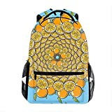Oranges Like Gold Coins Kids Backpack School Book Bag for Toddler Boys Girls