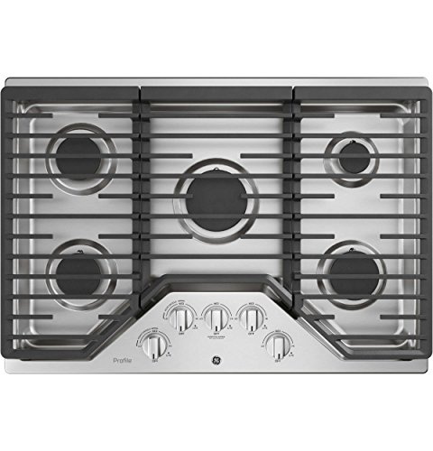 GE Profile PGP7030SLSS 30 Inch Natural Gas Sealed Burner Style Cooktop with 5 Burners in Stainless ()