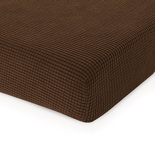 - CHUN YI Jacquard Cushion Covers High Stretch Loveseat Slipcover Furniture Protector for Sofa Settee and Couch Seat Coat (Chair, Coffee)