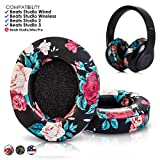 Upgraded Beats Replacement Ear Pads by Wicked Cushions - Compatible with Studio 2.0 Wired/Wireless and Studio 3 Over Ear Headphones by Dr. Dre ONLY (Does NOT FIT Solo) (Black Floral)