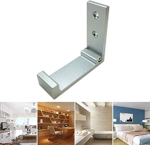 DDTing Multi-función de aleación de aluminio plegable para colgar en la pared, ganchos retráctiles para abrigo/abrigo/sombrero/toalla/llaves goodservice 1 pack plata: Amazon.es: Hogar