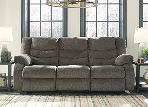 Signature Design by Ashley The Tulen Reclining Sofa, Gray