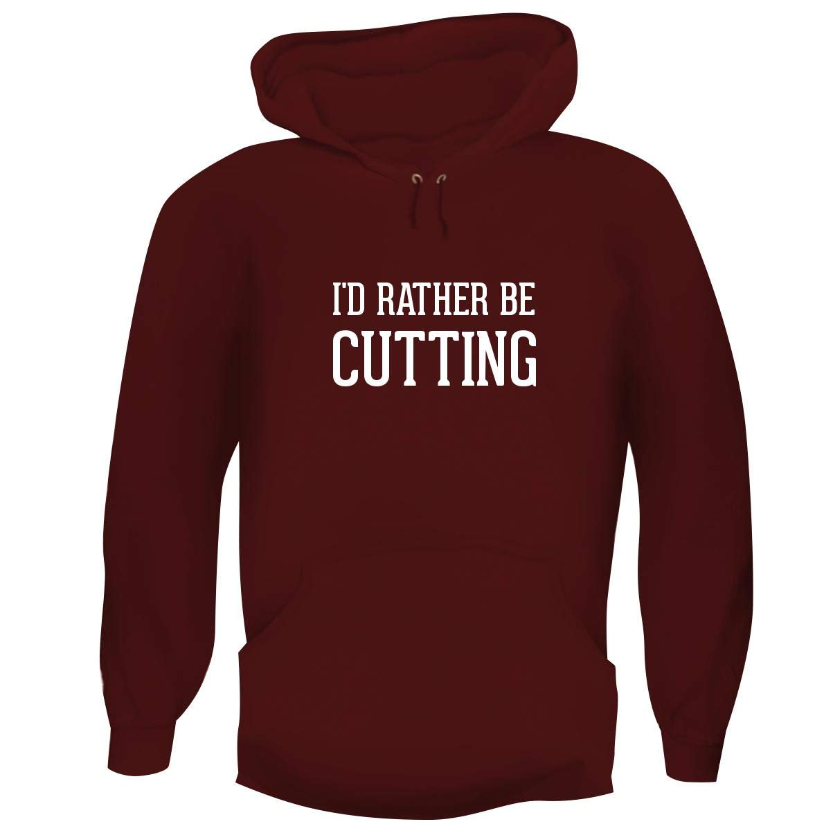 One Legging it Around I'd Rather Be Cutting - Hashtag Men's Funny Soft Adult Hoodie Pullover, Maroon, Large