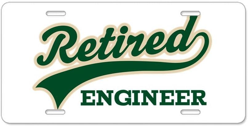 Retired Engineer Gift Aluminum License Plate Aluminum License Plate Front License Plate CafePress Vanity Tag