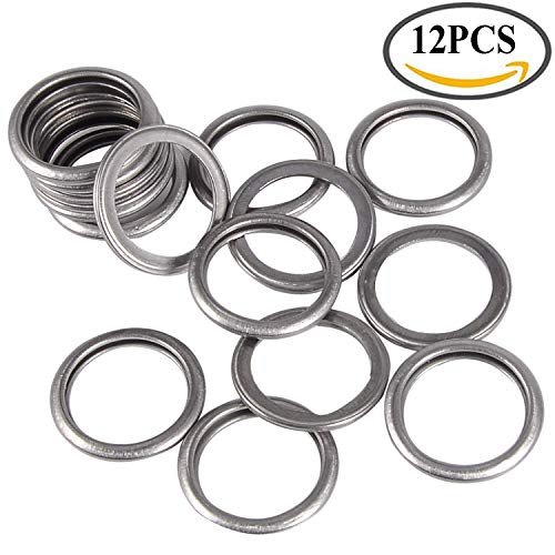 12 Pack M16 Engine Oil Drain Plug Sealing Washers/Crush Gaskets 803916010 Fit Replacement for Subaru Outback Crosstrek Forester WRX BRZ Impreza Engine Oil Seals Rings Silver