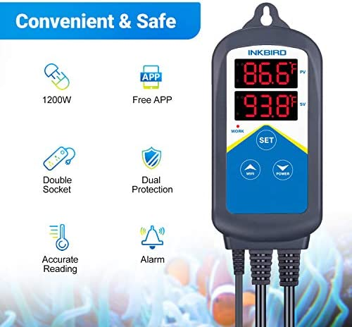 Inkbird Temperature Controller Thermostat 120V 1200W product image