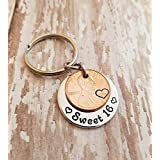 Sweet 16 Happy 16th Birthday Lucky Penny Key Chain with a 2003 Copper Coin