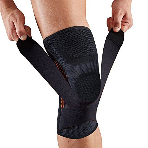 Knee Brace Support Patella Stabilizer with Adjustable Strap&Non-Slip Compression Knee Sleeve to Relieve Pain-Single