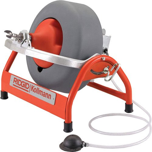 Drum Machine with C-32 3/8 Inch x 75 Foot Solid Inner Core Cable, Drain Cleaning Machine and Drain Auger ()