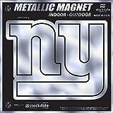 "New York Giants 6"" MAGNET Silver Metallic Style Vinyl Auto Home Football"