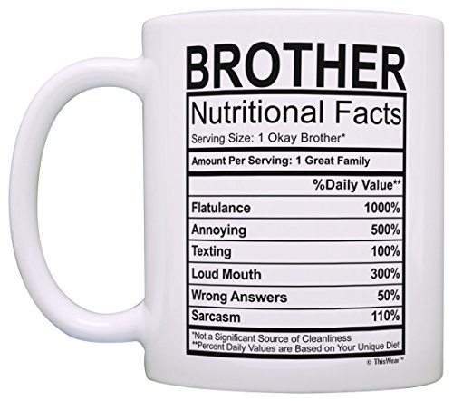Graduation Gifts For Brother Nutritional Facts Label Funny