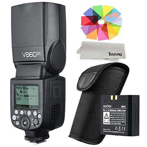 Godox V860II-C 2.4G GN60 TTL HSS 1/8000s High Power Lithium Battery Slave/Master Speedlite for Canon 6D 7D 50D 60D 1DX 600D 600EX-RT 580EX II 5D Mark II III