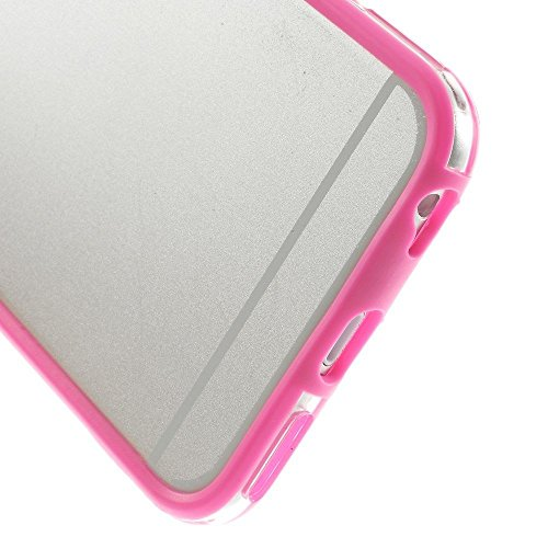 Iphone 6 plus 6s plus (5.5 inch) Silicon Bumper Transparent Hot Pink by G4GADGET®