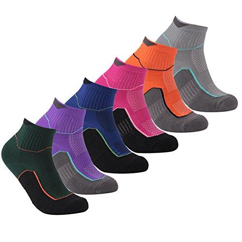 Outdoor Hiking Quarter Socks, Luccalily Men Women Athletic Cushion Padded Walking Ankle Socks 1 Pair Rose Red (Rose Walking Shorts)