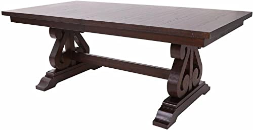 HEFX Saint Jean Colonial Scrolled Trestle Dining Table