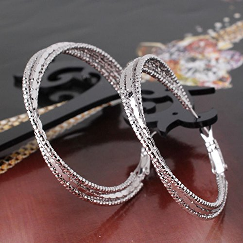 Promsup Infinity Love 18k white gold filled promise lady wedding hoop earring