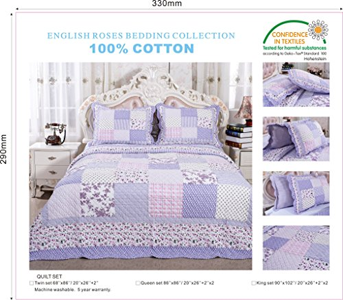 quilts lavender and green queen - 9