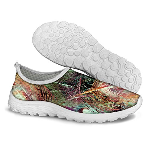 Womens Convenient Slip Walking Shoes U Mens Feather6 DESIGNS FOR Peacock Feather Fashion Print on Peacock gWfx7Yq