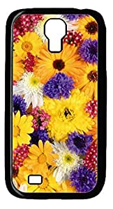 Personality customization All Nice Flower For You DIY Hard Shell Black Best Designed Samsung Galaxy S4 I9500 Case By Y-inc.case