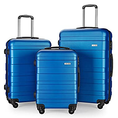 Luggage Set Suitcase Lightweight Carry On (Blue)