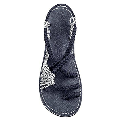 Justin Logger Boots (Sky-Pegasus Women New Summer Shoes Slippers Female Fashion Shoes Beach Sandals Shoes Slippers Sandals,Black and White,8)