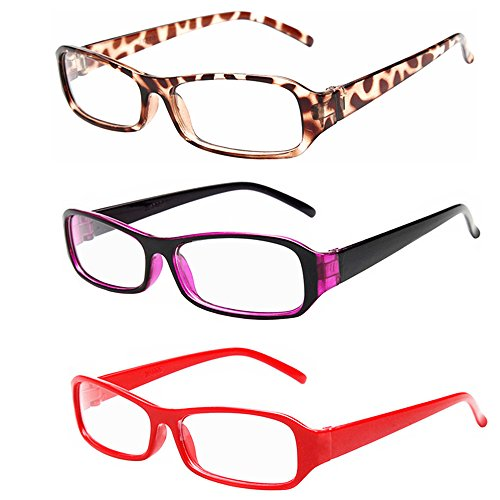 [FancyG® Vintage Inspired Classic Rectangle Glasses Frame Eyewear Clear Lens 3 Pieces Set 48] (Funny Weird Halloween Costumes)